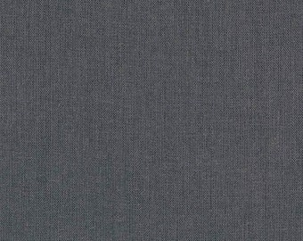 Charcoal Grey Linen Fabric, Brussels Washer Linen, Robert Kaufman Fabric, washable linen fabric