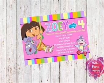 Dora the Explorer Party Invitation (Digital Download)