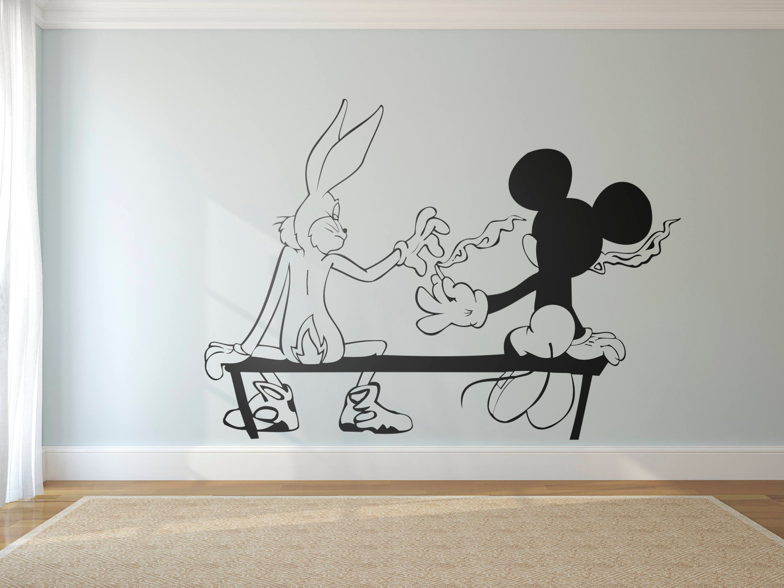 Stoners, Funny, Graffiti, Mice, Silhouette, Mouse and Bunny, Vinyl ...