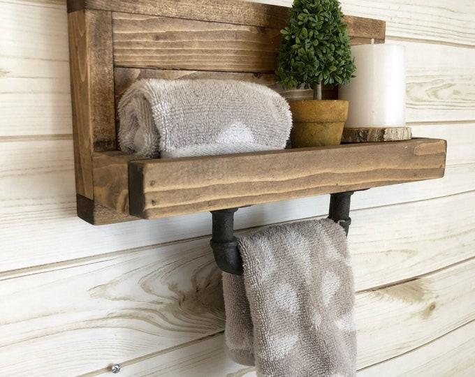 Hand Towel Holder, Towel Rack, Bathroom Decor, Towel Rack, Farmhouse Bathroom, Towel Hook, Kitchen Towel Holder Industrial