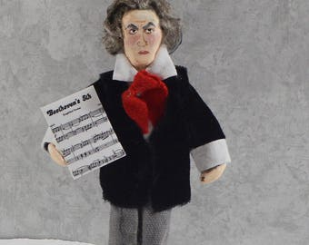 Beethoven Doll Miniature Composer Art Character Pianist Musician