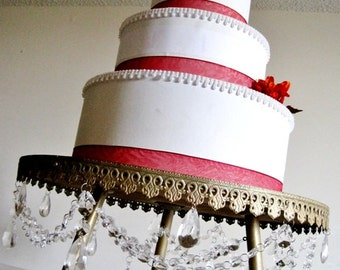 "Extra Large 20"" Wedding Cake Chandelier Stand MADE TO ORDER"
