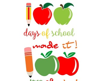 100 days of School Cuttable Design PNG DXF SVG & eps File Silhouette Designs Cameo