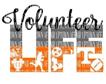 Tennessee Volunteer Life Multi-Layer SVG Digital Cut File