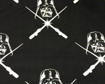 Star Wars Fabric Darth Vader  Cotton By The Yard 36 Inches Long Glow In The Dark!