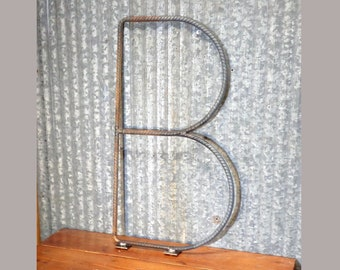 "Custom Sign Letters!! ""LARGE"" 2 Foot Tall Industrial Steel Rebar Rustic Letters For Ranch, Farmhouse, Restaurant, Store, Outside, Fence"
