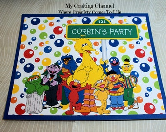 Set of 12 Sesame Street Placemat Sets,Sesame Street,Placemats,Birthday Placemats