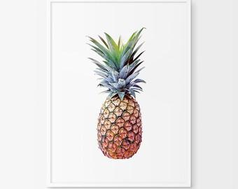 Pineapple Print, Pineapple Art, Pineapple Photo, Pineapple Photography, Pineapple, Summer Print, Summer Art, Wall Art, Wall Print, Printable