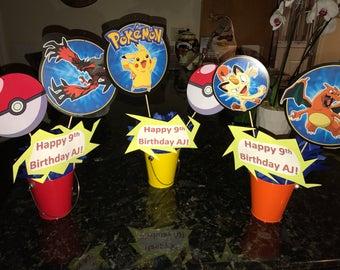 3 custom Pokemon Centerpieces