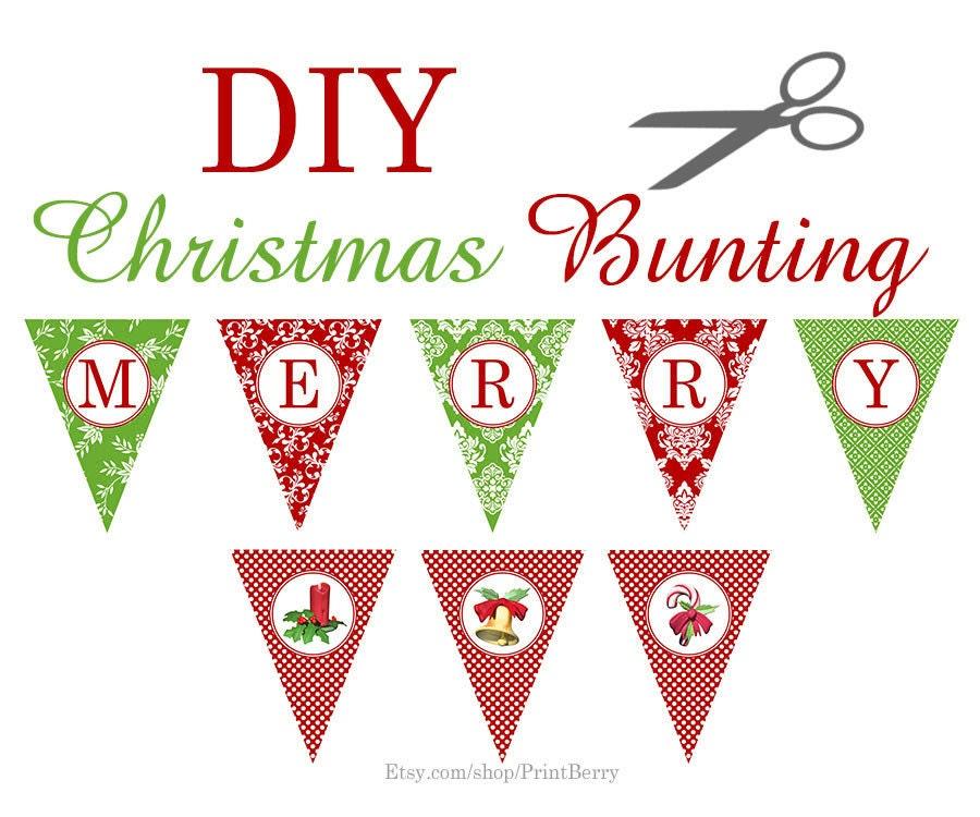 Christmas Printable Decor Banner Garland