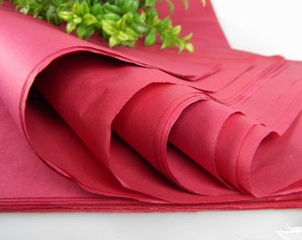 24 Raspberry Wine Tissue Paper Sheets | Solid Tissue Sheets | Gift Wrap Tissue | Raspberry Wine Wedding | Craft Tissue | Favor bag Tissue