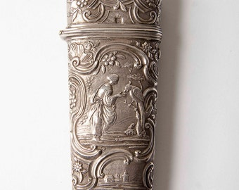 18th C French etui case - silver