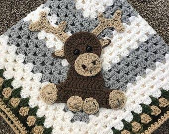 Crochet Pattern - INSTANT PDF DOWNLOAD - crochet pattern - moose pattern - crochet moose - woodland creatures - woodland