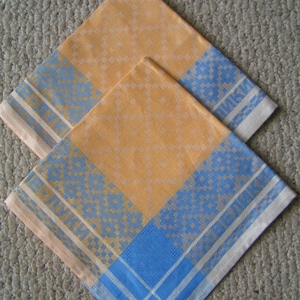Russian Linen Table Toppers---3 of Them---From 1994---Brand New