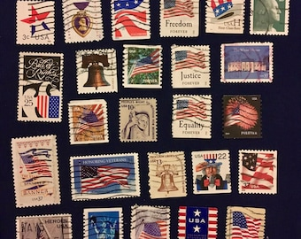 25 USA Patriotic Postage Stamps (KC024)