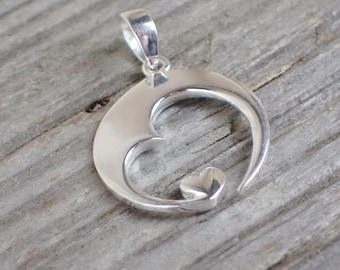 925 Sterling Silver Pendant Heart Sterling Silver Heart Necklace