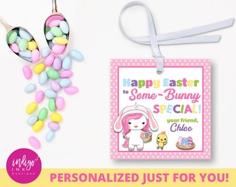 Personalized teacher easter tags easter gift tags personalized easter gift tags some bunny special customized favor tag easter unicorn tag negle Image collections