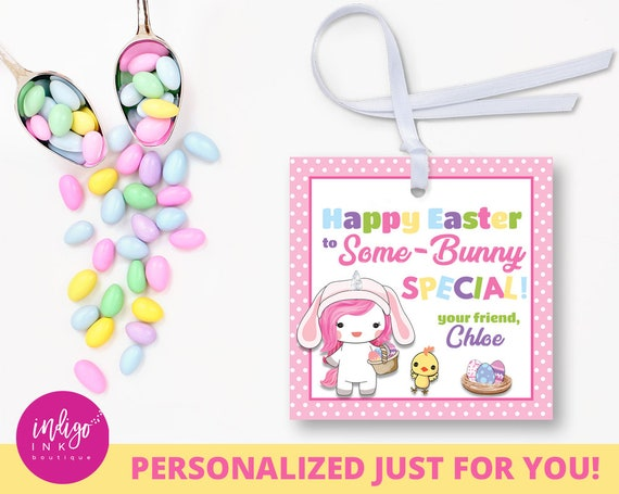 Personalized easter gift tags some bunny special customized like this item negle Images