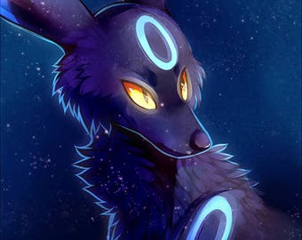 Shiny Umbreon | ART PRINT // Pokemon // Eeveelution