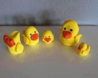 Custom Ducks Cake Topper for Birthday or Baby Shower