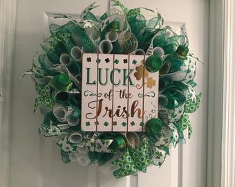 St. Patrick's Day Wreath, Saint Patrick's Day Wreath, Irish Wreath, Luck of the Irish Wreath, St. Patrick's Day Decor, Irish Decor