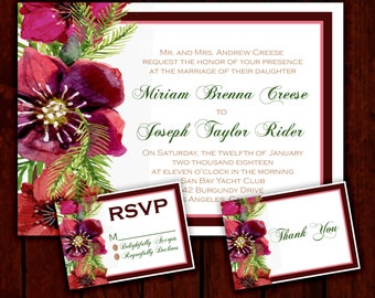 Purple Pinecone: Wedding Invitation Suite;     Print at Home Wedding Invitations