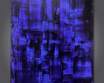 Azure No.2  Original acrylic abstract painting 24 x 36