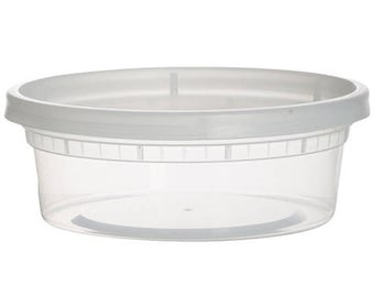 8 ounce container with lid