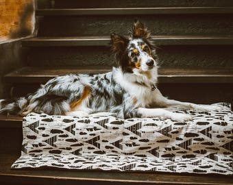Super Dog Blanket -70x100cm (27''x39'') - Brown dog blanket, Boho dog blanket, Puppy Blanket