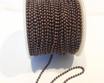 2.1mm Ball Chain Antique Copper 100'