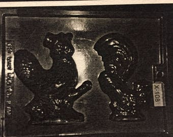 Adult Rooster & Hen chocolate mold (xx108)