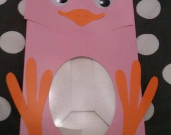 containing, box, bag, candy or chocolate Easter Chick, pink, blue, green or yellow-shaped