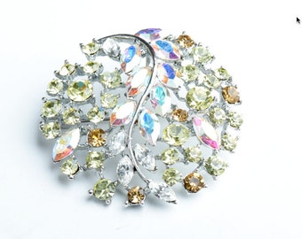 Crystal Vine Brooch, set in beautiful glass crystals, each G349
