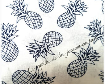 48X48cm pineapple pattern cotton fabric coupon