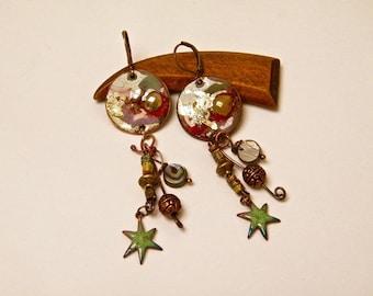 Brotherhood - These rustic, Bohemian earrings