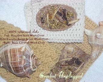 Au Natural Cotton Washcloths 3 for 12