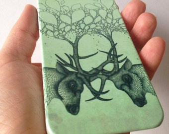 Deer phone case // Illustrated Animal // iPhone X / 8 / 8 Plus / 7 / 7 Plus / 6 / 6S / SE / 5 / 5S // Samsung G. S9/S7/S6/S6 Edge/S5