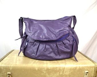 Vintage 90s Leather Purple Purse