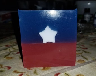 Captain America Inspired Soap.