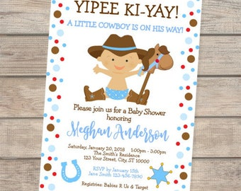 Western baby shower invitations etsy cowboy baby shower invitation western baby cowboy baby shower invitation filmwisefo Images