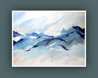 Art Prints, Contemporary art, Abstract Mountain Painting, Art Prints, Modern Abstract Painting, Abstract Art