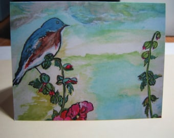 Art Card Set, Art Work Cards, Blank Inside Cards, Any Occasion Card Set of Ten with Envelopes