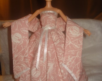 Pretty pink formal, shall and petticoat for Fashion Dolls - ed484