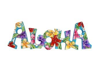 PERSONALIZED 8x24 Hawaiian Themed Aloha Sign