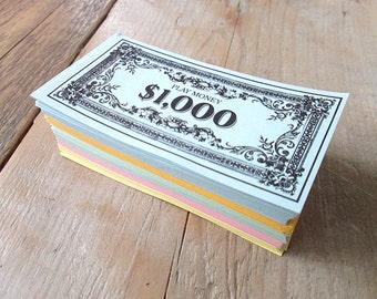 Bulk vintage paper money. 250+ pieces 80's.