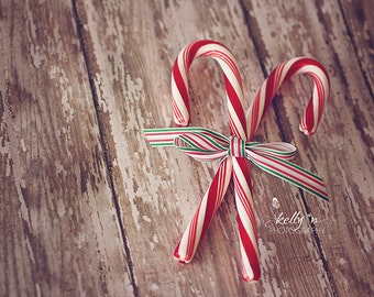 Candy Cane Photograph, Christmas Photography, Holiday Photo, Peppermint Sticks Photo, Rustic Holiday Candy Photo, 8x10 Fine Art Print