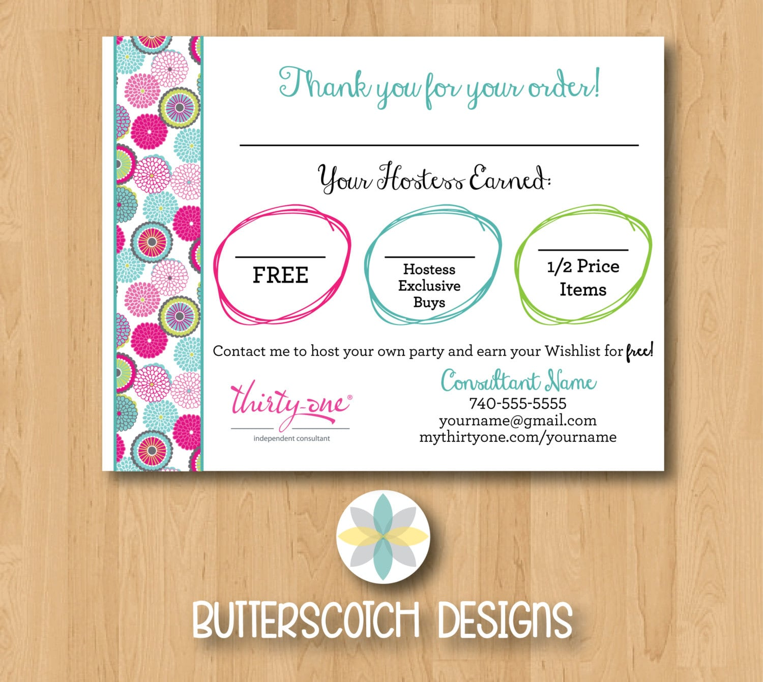 Thirty-One Customer Bag Tag Bubble Bloom Postcards - Printable ...