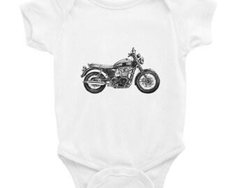 Tintabybulka Baby Boy Onesies Funny Onesies Cute Baby Onesies Motorcycle Onesies Triumph Motorcycle Cute Onesies Hipster Onesies Hipster
