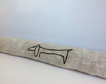 door draft stopper / draft stopper / window draft stopper /picasso dog / personalized draft stopper