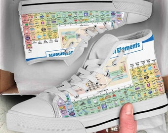 Periodic table shoes etsy periodic table of elements urtaz Gallery